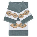 Linum Home Textiles 3-piece Turkish Cotton Gianna Embellished Towel Set