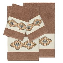 Linum Home Textiles 4-piece Turkish Cotton Gianna Embellished Towel Set