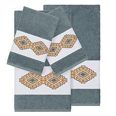 Linum Home Textiles 4-piece Turkish Cotton Gianna Embellished Towel Set