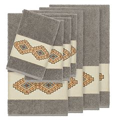 Linum Home Textiles 8-piece Turkish Cotton Gianna Embellished Towel Set