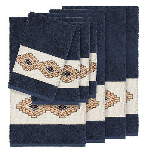 Linum Home Textiles 8-piece Turkish Cotton Gianna Embellished Towel Set