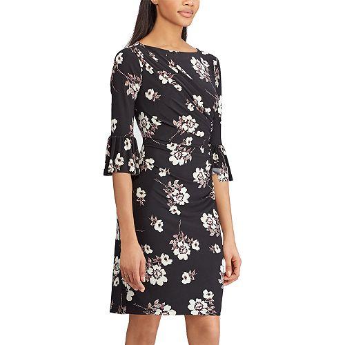 Women's Chaps Floral Bell-Sleeve Sheath Dress