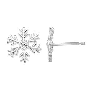 Disney Sterling Silver Snowflake Stud Earrings