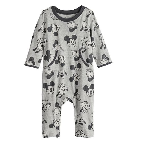 Disney's Mickey Mouse Baby Donald Duck & Goofy Print Coverall by Jumping Beans®