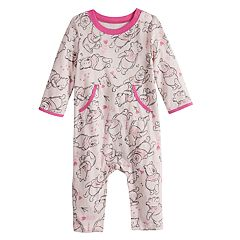 Disney's Winnie The Pooh Baby Girl Print Coverall by Jumping Beans®