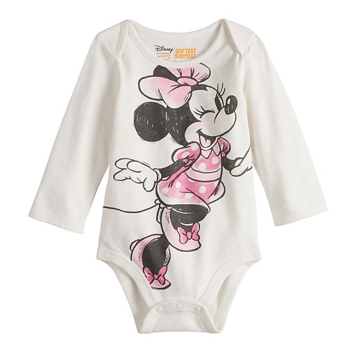 0db7ae19a2 Disney's Minnie Mouse Baby Girl Graphic Bodysuit by Jumping Beans®