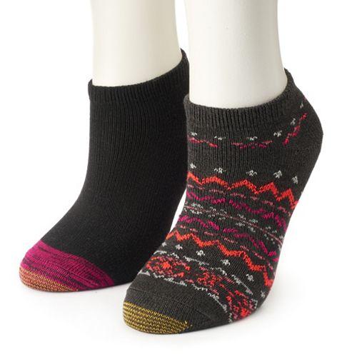 Women's GOLDTOE® 2-Pack Fireside No-Show Socks