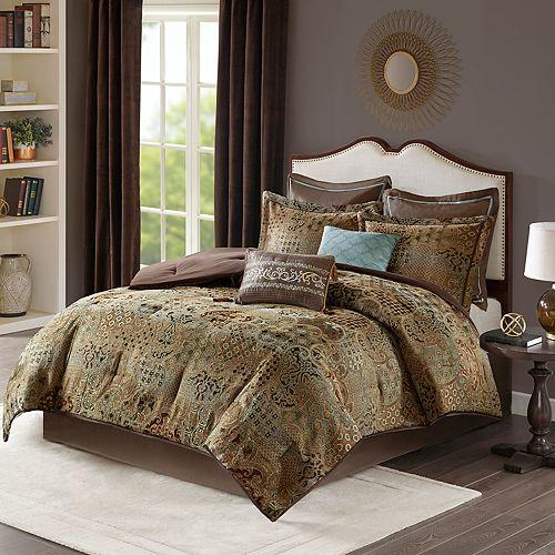 Madison Park Wyeth 8-piece Chenille Jacquard Comforter Set