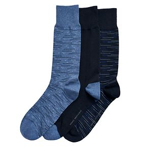 Men's Marc Anthony 3-pack Striped Crew Socks