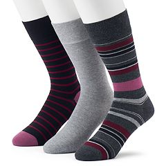 Men's Marc Anthony 3-pack Striped & Solid Crew Socks