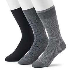 Men's Marc Anthony 3-pack Hexagon Crew Socks