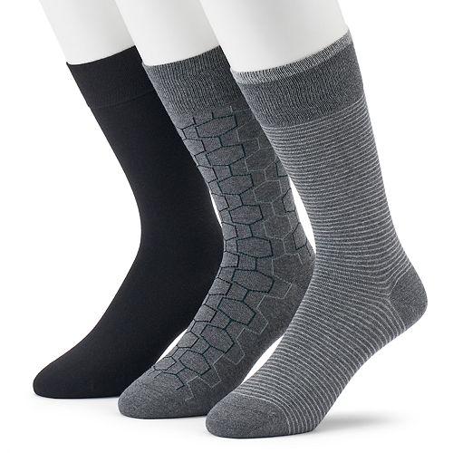 Men's Marc Anthony 3-pack Hexagon Crew Socks