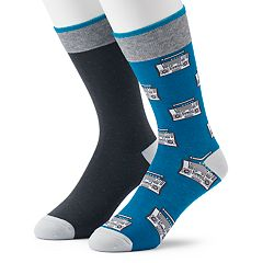 Men's Apt. 9® 2-pack Boom Box & Dot Fashion Crew Socks