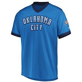 Men's Majestic Oklahoma City Thunder Team Glory V-Neck Tee