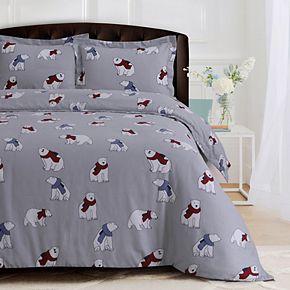 Heavyweight Flannel Oversized Duvet Cover Set
