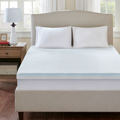 Flexapedic by Sleep Philosophy 3-inch Cooling To Warming Reversible Memory Foam Mattress Topper