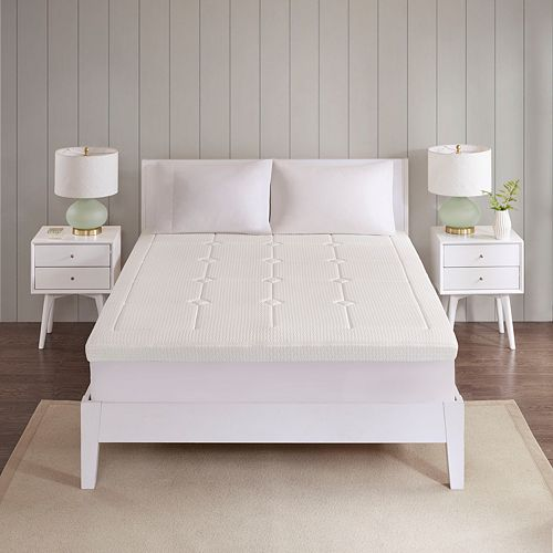 Flexapedic by Sleep Philosophy 3-inch Quilted Memory Foam Mattress Topper