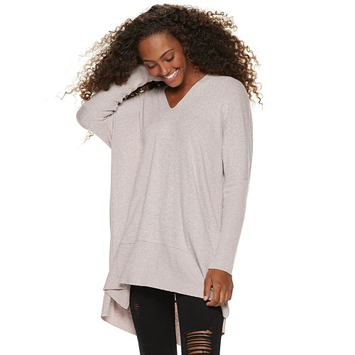 Juniors' Miss Chievous V-Neck Long Sleeve Tunic