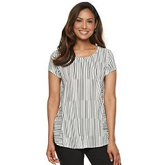 Women's Dana Buchman Textured Striped Tee