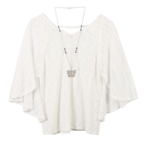 Girls 7-16 Speechless Capelet with Necklace