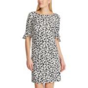 Women's Chaps Floral Ruffle Sheath Dress