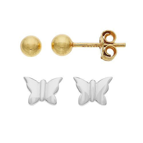 "Love This Life Sterling Silver ""Happiness"" Stud Earrings Set"