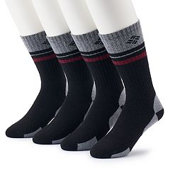 Men's Columbia 4-pack Wool-Blend Striped Crew Socks