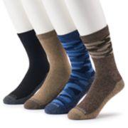 Men's Columbia 4-pack Camo & Solid Crew Socks