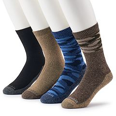 Men's Columbia 4-pack Camo & Solid Crew Socks