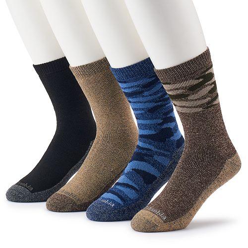 Men's Columbia Camo Crew Sock 4-pack