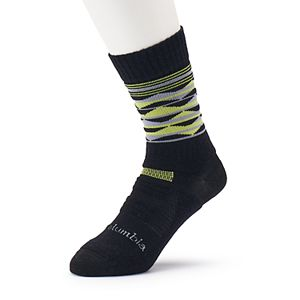 Men's Columbia Merino Wool-Blend Crew Hiking Socks