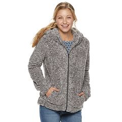 Juniors' Coffee Shop Frosted Wubby Zip Up Hoodie