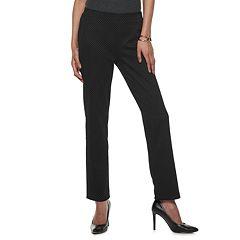 Women's Dana Buchman Print Straight-Leg Ponte Pull-On Pants