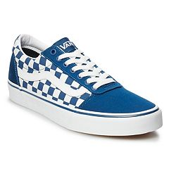 f42799f498b221 Vans Ward Men s Checkerboard Skate Shoes. Sailor Blue White Dress Blues  Sapphire Port Royale Black