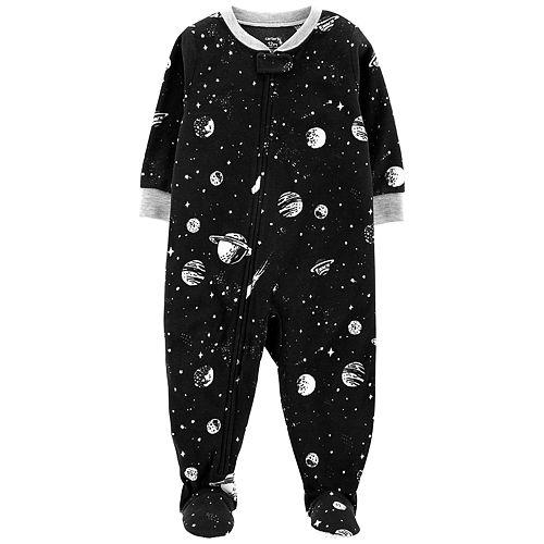 Toddler Boy Carter's Printed Microfleece Footed Pajamas