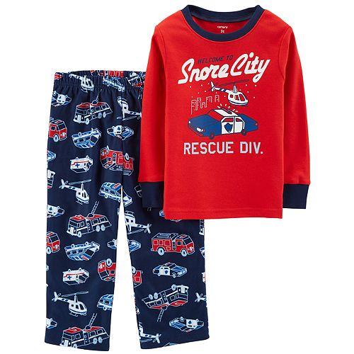 Toddler Boy Carter's Top & Fleece Bottoms Pajama Set
