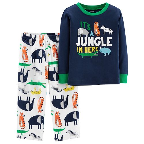 Toddler Boy Carter's Top & Fleece Bottoms Pajamas Set