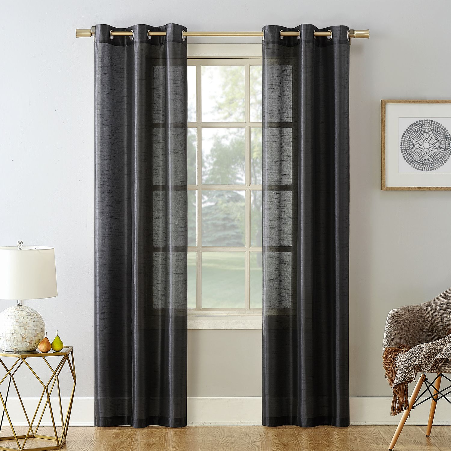 Noreen 2 Pack Casual Window Curtains