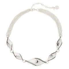 Dana Buchman Twisted Front Chain Necklace