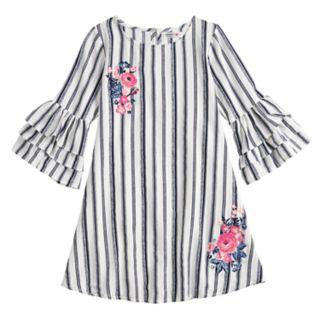Girls 7-16 Knitworks Striped Lantern Sleeve Dress