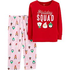 Toddler Girl Carter's Christmas Top & Microfleece Bottoms Pajama Set