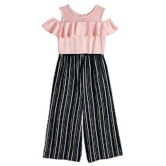 Girls 7-16 Knitworks Ruffled Sleeve Cold Shoulder Jumpsuit