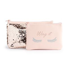 LC Lauren Conrad 'Wing It' 2-Piece Cosmetic Bag Set