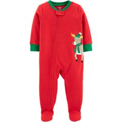 Toddler Boy Carter's Microfleece Christmas Footed Pajamas