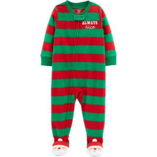 Toddler Boy Carter's Microfleece Christmas Footed Pajamas