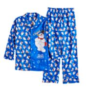 Boys 6-10 Frosty the Snowman Flannel 2-Piece Pajama Set