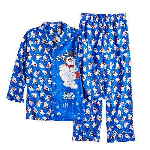 Boys 6-10 Frosty the Snowman Flannel 2-Piece Pajama Set
