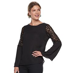 Women's Apt. 9® Lace Accent Bell Sleeve Top