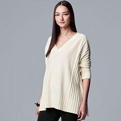 Women's Simply Vera Vera Wang Pleated Oversized Sweater