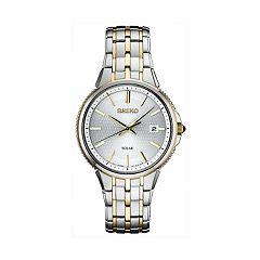 Seiko Men's Two Tone Stainless Steel Solar Watch - SNE508